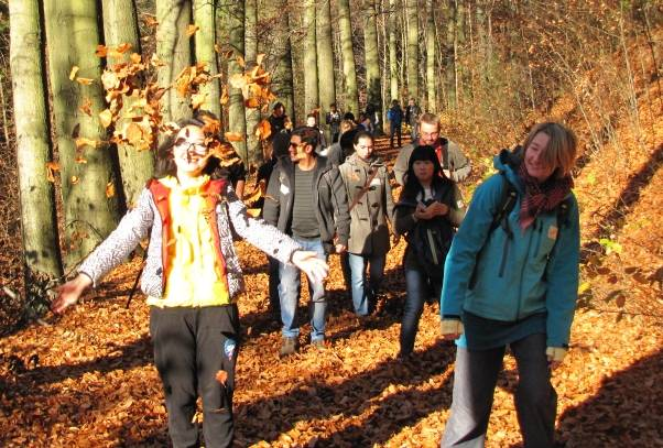 A field day with international students in the area around Dresden