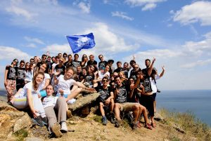 Group picture of the participants of the Summer University Transsiberian Dream by AEGEE Moskva in 2015.